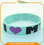 Wristband do silicone do logotipo do projeto da forma
