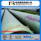 Tubo plástico reforzado del tubo GRP FRP del mortero con el certificado de Wras/ISO 14001