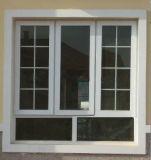 Las parrillas diseñan la ventana esmaltada doble del marco de UPVC