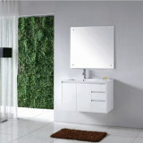 MirrorおよびWhite Basinの現代MDF Bathroom Furniture