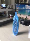 عالة طبع زجاجة شكل يقف فوق حق لأنّ ماء عصير سائل شراب