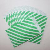 Libro Verde Ecológico de rayas Bolsas para la fiesta
