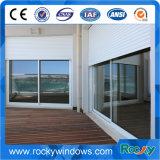 Schiebendes Glasaluminiumfenster mit Rollen-Blendenverschluß