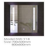 Salle de bain en vanité en argent Miroir éclairé à LED personnalisé
