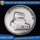 Moneta d'argento antica su ordinazione del commercio all'ingrosso della moneta del ricordo del metallo 3D