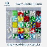 Tamanhos diferentes das cápsulas de Gelatin duras vazias coloridas e de cápsulas de Gelatin maiorias