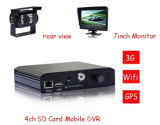 4CH D1 DVR móvil para el autobús, taxi, carro, furgonetas, coche policía