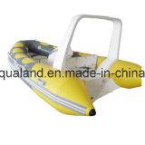 De Vissersboot van de Rib van Aqualand 14feet 4.2m/de Stijve Opblaasbare Boot van de Motor (RIB420B)