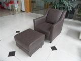 Sofá do couro genuíno da sala de visitas (C457)