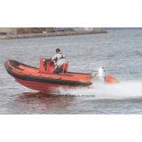Bateau de nervure de fibre de verre d'Aqualand 19feet 5.8m/bateau gonflable rigide (RIB580T)