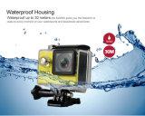"""処置カメラ1080P/60fps 2.0 """" LCD 170dレンズのヘルメットのカメラ潜水の30mのスポーツ"""