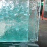 vidro figurado vidro temperado modelado desobstruído de 6mm para o edifício da parede de cortina