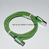 Tipo dual trenzado aprisa de carga cable del USB 3.1 de C
