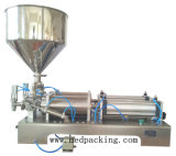 300-2500ml 두 배 헤드 크림 샴푸 장식용 압축 공기를 넣은 충전물 기계
