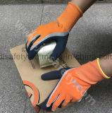 Перчатки безопасности работы при покрынная ладонь латекса Sandy (LRS3035)