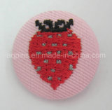 Fabric (ボタンのバッジ60)の高品質Embroidery Tin Button Badge