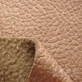 Leatheriod grabado Fabric con Fleece Backside