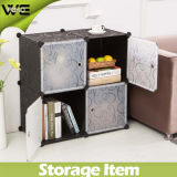 Foho- DIY Plastic Storage Cube mit Doors, Cube von 4, Black Flower Color (FH-AL0016-4)