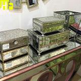 Le miroir composent Madame Jewelry Handy Cosmetic Box avec le cadre en verre de miroir