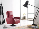 現代ソファーの旋回装置アーム椅子はとの押し戻す