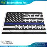 アメリカポリエステル黒の白く薄いブルーライン警察はフラグを付ける(J-NF05F09328)