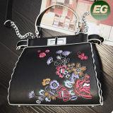 Il cuoio di lusso di modo ricamato fiorisce il sacchetto di mano per la signora Bags Women Handbags con il prezzo di fabbrica Sy8501