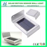 A lâmpada de parede solar ao ar livre Waterproof a luz solar da parede do sensor de movimento de 16 diodos emissores de luz para o jardim