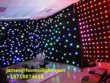 Cortina profesional de la estrella de la iluminación LED de la cortina de la decoración de la boda