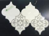 El mejor piso al por mayor de flores de diseño baldosas de mármol por chorro de agua medallón mosaico