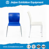 움직일 수 있는 전람 파란 금속 접는 의자