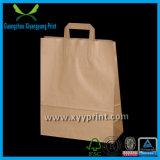 Пользовательские плоская ручка Крафт-бумага сумка для покупок с окном