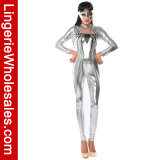 Costume lungo di Catsuit del manicotto del nastro del partito di Halloween delle donne della ragazza sexy del ragno