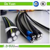 Lv-XLPE Isolier-ABC-Kabel-Aluminiumkern-obenliegende Zeile Kabel