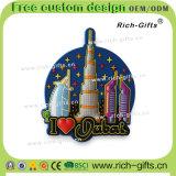 Paysage de Dubaï de cadeaux de promotion de dessin animé d'aimants de réfrigérateur de PVC de souvenir (RC-DI)