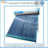Fábrica solar del calentador de agua de la No-Presión para la fuente casera de la agua caliente
