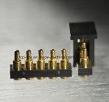 adattatore magnetico d'ottone caricato a molla di Pin di 5pin Pogo per il caricatore astuto del telefono
