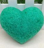 Éponge de nettoyage profonde faciale d'éponge de 100% de forme konjac normale de coeur