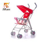 Venda por atacado simples da bicicleta do carrinho de criança de bebê da cor vermelha