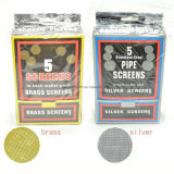 20mm Zilver van de Filters van het Metaal van de Schermen 500PCS/Lot van het Messing van de Schermen van de Pijp het het Rokende en Roestvrij staal van het Messing voor Gebruik met Om het even welke Pijp of Pijp