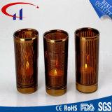 Suporte de vela de vidro de Tealight da forma colorida do cilindro do estilo chinês (CHZ8009)