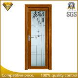 La couleur en bois a conçu la porte d'ouverture en aluminium en verre pour la salle de bains