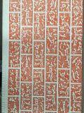 Panneau mural de base en polyuréthane (PUR) revêtu de métal en relief