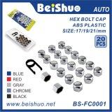 20 + 1PCS plástico ABS hexagonal tornillos de rueda de Topper casquillos Conjunto