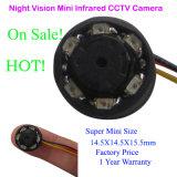 mini HD appareil-photo infrarouge de vision nocturne de télévision en circuit fermé de 14.5mm x de 14.5mm x de 15.5mm avec l'enregistrement audio (lampes de 6PCS 850/940nm)