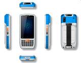 O varredor Handheld longo do código de barras da escala 13.56MHz RFID do Android 6.0 para a equipe de funcionários assina dentro