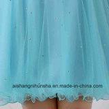 Scalloped платья выпускного вечера кристаллический Beaded образца Tulle шикарные короткие