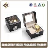 Caixas de relógio de couro feitas sob encomenda do plutônio da venda quente únicas