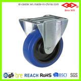roda industrial de borracha elástica azul do rodízio de 80mm (P102-23D080X32S)