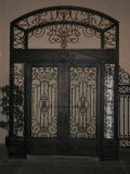 Dekorative vordere bearbeitetes Eisen-Tür-Einlagen