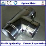 Menuisier d'éclat d'ajustage de précision de balustrade d'acier inoxydable avec à trois voies